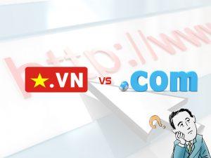 Chọn mua tên miền .com hay .vn?